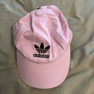 Pink adidas hat